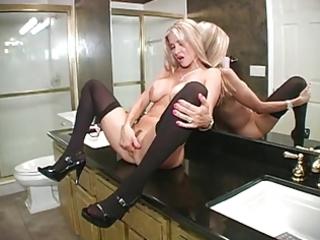 hawt wife blows in bathroom