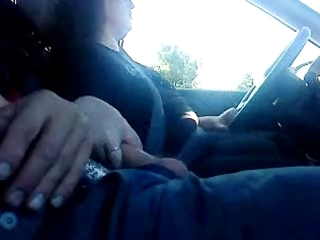 wife jacking lad off during the time that driving