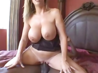 voluptuous starlet takes a thick load of cum all