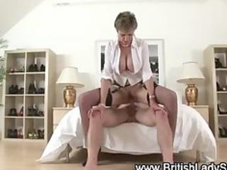 Busty mature brit gets a cumshot