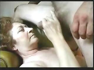cuming on face of an old bitch