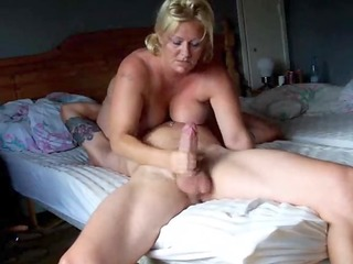 blond large tited wife rocked