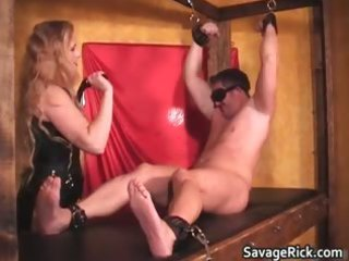 hot black leather blond d like to fuck babe gets