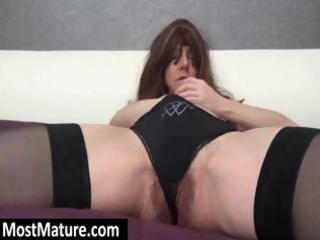 wearing trio black nylons a sexy mother i digs