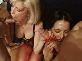 foursome fucking joy with hawt and shaggy milf
