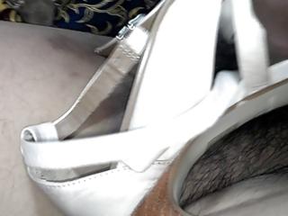 cum on wifes heel sandal.