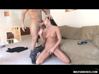 darksome haired milf honey with miniature