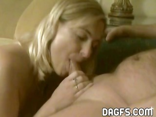 mature blond rookie shows her fantastic oral-sex