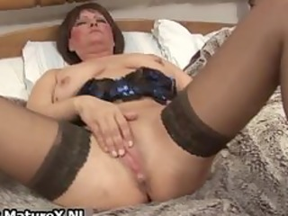 Dirty old mom in sexy lingerie fucking part4