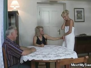 stud caught his girlfriend with her mature mom