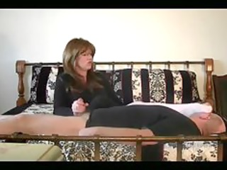 Mistress got her hands on mans cock and her feet