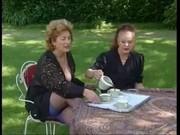 grannies take tea and knob