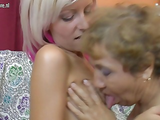 old lesbian grandmother copulates a cute angel