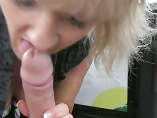 Blonde milf goes for a taxi ride