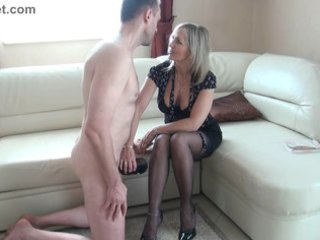 doxy aged makes a jerk off with the feet