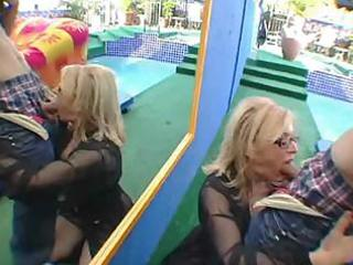 aged lady begins the pleasure elsewhere and