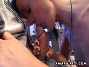 older dilettante wife sucks and fucks with facial