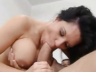 milf playgirl elle cee munches a wet thick cock