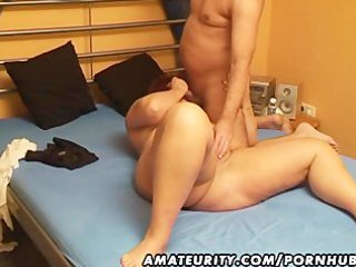 chubby dilettante wife sucks and bonks with cum
