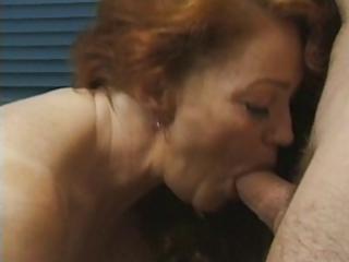 redhead granny acquires busy