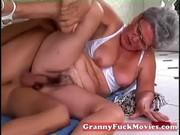 stud pounds granny her older beaver