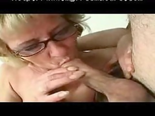little titted granny milf in glasses and nylons
