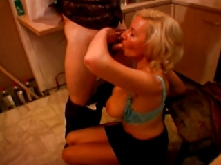 French blonde mature with big boobs and young guy