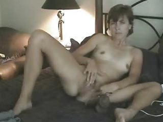 my youthful wife masturbating for me on bed