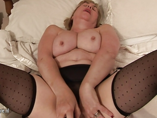 large breasted granny and her soaked bawdy cleft