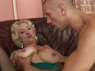 granny enjoying sex with juvenile man