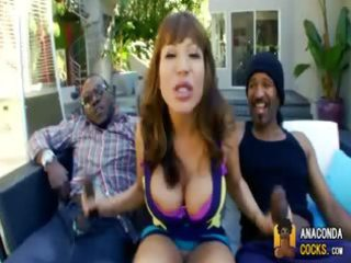large titty milf is on double penis duty