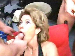 german aged housewife gets loads of cum on face