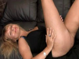 breasty aged fingering her hairy muff