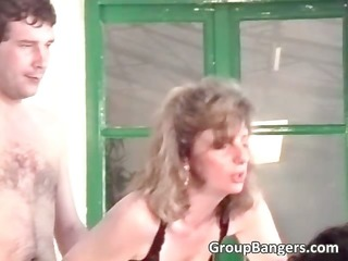 amateur group sex with sexy blond part1
