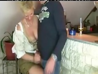granny woman gets drilled by three-some stranger