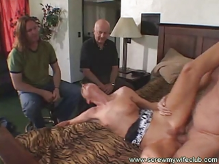 hubby watched her marvelous wife sucked a large