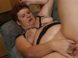 chubby older german lady enjoys a hard weenie dbm