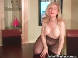 excited golden-haired mum with large hooters part5
