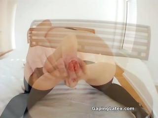 immodest brunette whore gets horny fisting part10
