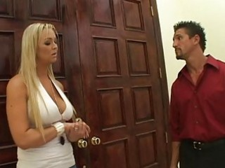 pretty breasty blonde wife get to fuck for