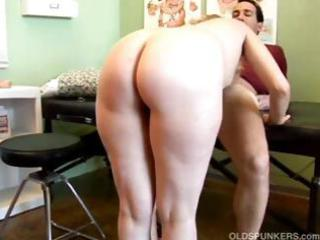 blonde mature sucks and bangs her doctor and