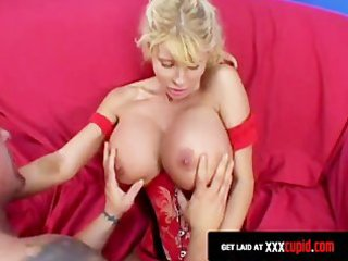 blond mother i receives her boobs covered in cum
