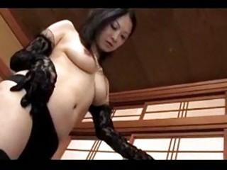 older dominatrix in dark underware getting her