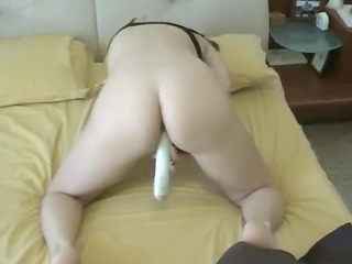 caught mamma masturbating with sex toy at home
