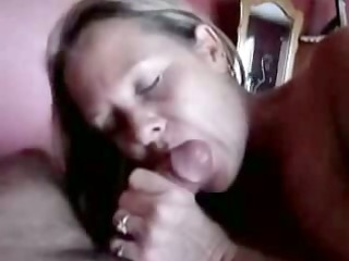 aged lady gives an experienced oral job