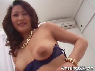breasty japanese gal in underware engulfing part1