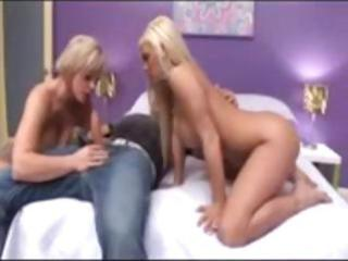 blonde sweetheart begins and is joined by her