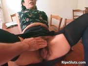 super excited older whore with hairy