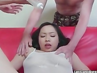 Asian mature slut gang bang oral pleasure