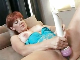 red hawt momma calliste pounds her cunt with toys